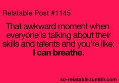 I can breath like a boss....