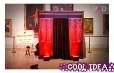 CONFESSIONAL VIDEO PHOTOBOOTH.. I really want one of these for the wedding!