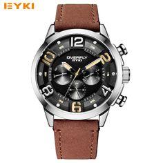 US $53.55 - EYKI Fashion Racing Sport Watches For Men Three Eyes Multifunction Stereoscopic Dial Luminous Top Brand Man Watches Quartz-watch