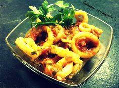 Blog di cucina, ricette semplici e veloci, trucchi e segreti con foto passo a passo Calamari, Shrimp, Meat, Chicken, Carne, Blog, Blogging, Octopus, Cubs
