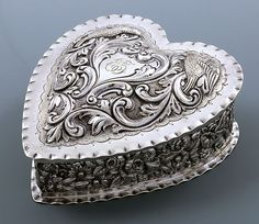 Dominick & Haff large sterling heart box