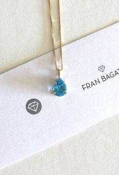 """Fran Bagatini no Instagram  """"Ahhh! 😍 colar de topázio azul, swiss blue,  feito à mão em ouro amarelo. Informações  fran franbagatini.com.br…"""" 0ce448ab0c"""