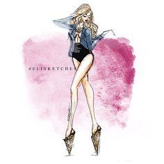 First thought this morning. Lol #elisketches #heels #fashionillustration #fashion #fashionsketch #sketch #art #artwork #artph #fashionstyle #fashionart #pretty #vogue #beautiful #highfashion #runway #topmodel #antm #hairstyle #louboutin #manolo #versace #dolcegabanna #chanel #mcqueen