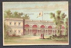 Autriche Exposition Universelle Paris 1878 Chromo Trade Card
