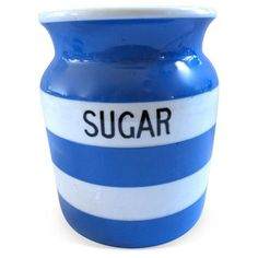 Check out this item at One Kings Lane! English Cornishware Sugar Canister