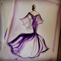 Christian Siriano's Fabulous Gown Design Sketches