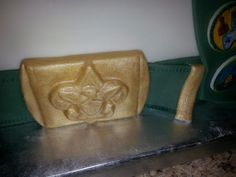 Eagle Scout cake, Boy Scouts fondant belt and buckle