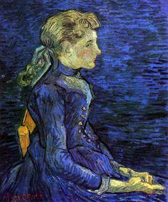Ritratto di Adeline Ravoux di Vincent Van Gogh