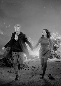 just the doctor and clara oswald in the tardis