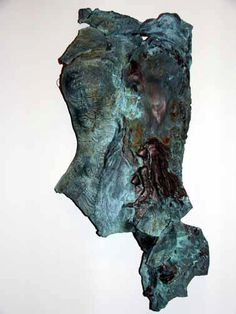 Remembering the Sea by Tammy Vitale hand/slab built clay torso, tammyvitale.com