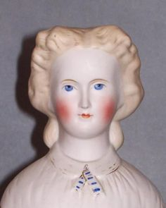 OVERVIEW: Very fine example of a Parian-type lady by Kling. She has perfect…