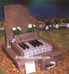 Piano headstone