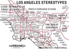Los Angeles Neighborhood Stereotypes Map