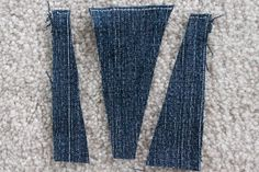 """If your waist is quite a bit smaller than your hips, you may suffer from """"gaposis"""" when you buy jeans to fit your hips. This leaves plenty of room in the waistband, creating a. Sewing Hems, Sewing Clothes, Diy Clothes, How To Make Jeans, How To Make Skirt, Altering Jeans, Altering Clothes, Repair Jeans, Look Con Short"""
