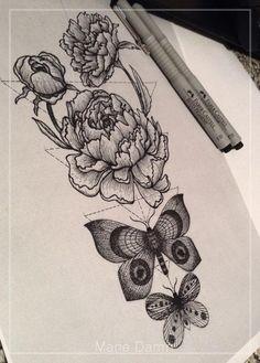 пионы\бабочки   Татуировки, эскизы и тату-мастера России, Украины, Беларуси и из всего бывшего СССР
