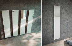 Wandmontierter vertikaler Designheizkörper aus Aluminium TAVOLA SPECCHIO Linie Griffe by ANTRAX IT radiators