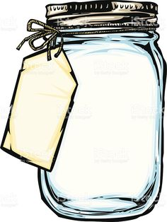 illustration of a mason jar with a hanging tag tied on with string jar with label royalty-free jar with label stock vector art & more images of airtight<br> illustration of a mason jar with a hanging tag tied on with string
