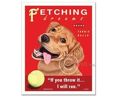 Fetching Dreams Tennis Balls - Print