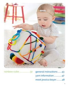 Every day can be a thrill-filled adventure for baby with these crocheted Play & Learn Activity Cubes! These storytelling cubes by designer Jessica Boyer are sure to provide hours of entertainment with their playful attachments and surprise pockets. Diy Crochet Toys, Crochet Ball, Crochet Patterns Amigurumi, Crochet For Kids, Crochet Crafts, Diy Educational Toys, Activity Cube, Cube Pattern, Cubes