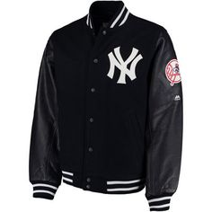 Men's New York Yankees Majestic Navy On-Field Varsity Jacket