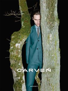 The upcoming season will be dark and brooding for Carven men, seen in the Fall/Winter 2013 advertising campaign. The campaign stars Lukas Badnjar getting back to nature and is shot by Viviane Sassen.