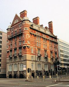 "White Star Building, Liverpool UK. Commonly known as the ""streaky bacon biulding"""
