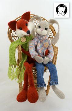 #rabbit #filc #polandhandmade #felt #ooak #teddybear #fartfilcinietylko #fartownemisie #toy #fox