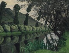 The Seine river lined with willow trees, Tournedos, 1922 by Felix Edouard Vallotton on Curiator, the world's biggest collaborative art collection. Pierre Bonnard, Green Landscape, Landscape Art, Landscape Paintings, Maurice De Vlaminck, Maurice Denis, Edouard Vuillard, Paintings I Love, Art Moderne