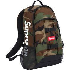Find out who is wearing Supreme Camo Backpack and where to buy it. Supreme Logo, Supreme Accessories, Camo Backpack, Woodland Camo, Classic Style, My Style, Herschel Heritage Backpack, Camouflage, Gentleman