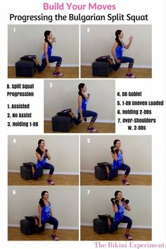 Learn the bulgarian split squat exercise and progress it in your workouts. This…