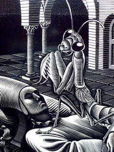 Here is my collection of MC Escher sketches UpRate for moar :D Mc Escher, Escher Art, Escher Prints, Mantis Religiosa, Art Optical, Dutch Artists, Art Graphique, Gravure, Art World