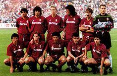 13 maggio 1992, finale Coppèa Uefa ad Amsterdam, ritorno, Ajax-Torino 0-0 Lentini, Policano, Benedetti, Casagrande, Martin Vazquez, Marchegiani - Fusi, Mussi, Scifo, Cravero, Venturin.