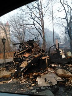 The yard light remains. Gatlinburg Fire, Gatlinburg Tennessee, Pigeon Forge Fire, Tennessee Fire, Landscape Lighting Design, Gates Of Hell, Smoky Mountain, Close To Home, Emotional Healing