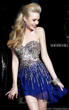 eb2f660560 Sherri Hill 8443 Dress - MissesDressy.com Navy Prom Dresses