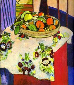 Matisse, Natura morta con arance (1913).