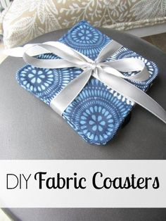 DIY Fabric Coasters #sewing #PHG #GiftIdea