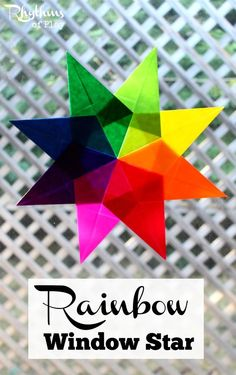 Making a rainbow window star is a great fine motor activity for both kids and adults. Make a beautiful rainbow suncatcher while strengthening the fine motor muscles of the hand. Rainbow Suncatcher | Window Star Tutorial |Waldorf Window Star | Origami | Kids Craft | Craft | DIY Project