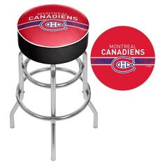 NHL Montreal Canadiens Chrome Bar Stool with Swivel