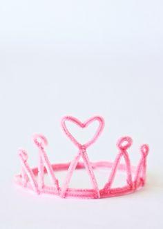 Corona de princesa con Limpiapipas.