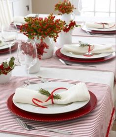 Holiday Table Tablescape Ideas How To Set The Christmas Place Setting Red Up