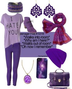 """I love purple"" by mojomydog ❤ liked on Polyvore"