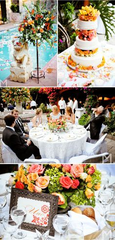 great inspiration for tropical beach wedding - this one's by margaret singer as seen on @Style Me Pretty