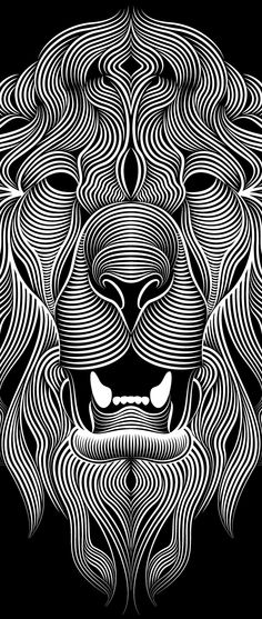 THIS would be an AWESOME tattoo! Lions by Patrick Seymour, via Behance