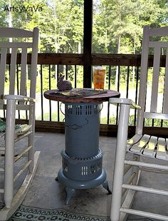 Vintage Kerosene Heater Table | Hometalk