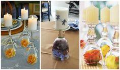 decorando com flores e velas