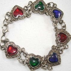 SALE adorable vintage heart bracelet by smallandmousey on Etsy, $8.00