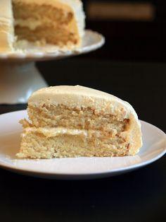 White Velvet Cake with Whipped Vanilla Bean Frosting