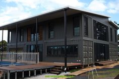 Looking for how to renovate shipping container into house, Shop, Garage or Workshop? Here are extensive shipping Container Houses Ideas for you! shipping container homes Shipping Container Buildings, Cargo Container Homes, Shipping Container Home Designs, Storage Container Homes, Building A Container Home, Container House Design, Shipping Containers, Metal Building Homes, Building A House