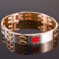 14mm Two Tone Rose Gold Stainless Steel Engraveable Bracelet