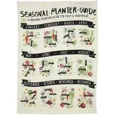mozi // seasonal planter tea towel